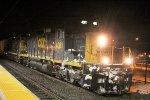 CSX 4081 leading rail train W018